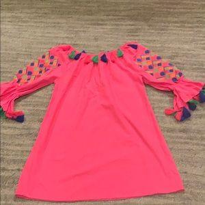 Pink Velzera tassel dress small